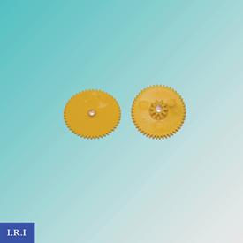 تصویر چرخ دنده زرد دوتایی